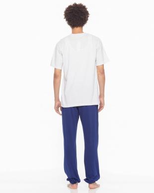 オフホワイト Championルームウェア天竺半袖長パンツを見る