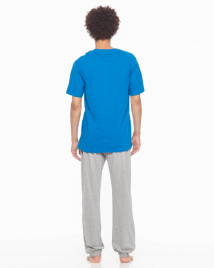 ブルー Championルームウェア天竺半袖長パンツを見る