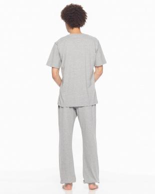 グレー Championルームウェア天竺半袖長パンツを見る