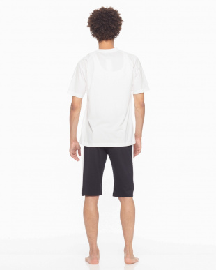 ホワイト Championルームウェア吸汗速乾天竺半袖半パンツを見る