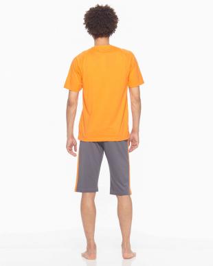 オレンジ Championルームウェア吸汗速乾天竺半袖半パンツを見る