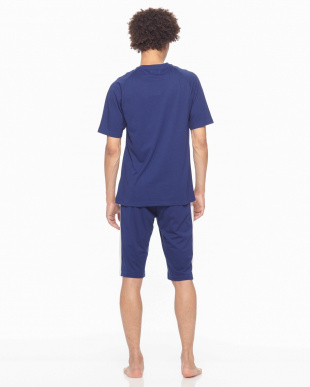 ネービーブルー Championルームウェア吸汗速乾天竺半袖半パンツを見る