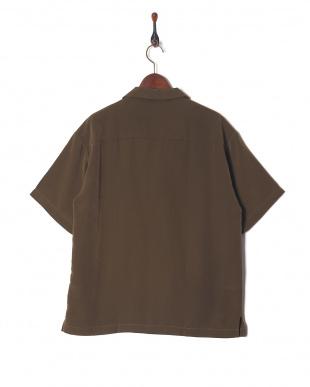 カーキ ポリ半袖オープンシャツを見る