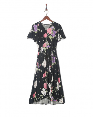 ブラック ORIGINAL FLOWER WRAP DRESSを見る