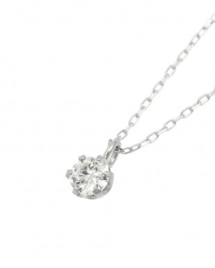 Pt900/Pt850 天然ダイヤモンド 0.1ct VSクラス 6本爪ネックレスあずきチェーン 鑑定書付を見る