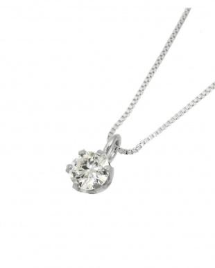 Pt900/Pt850 天然ダイヤモンド 0.1ct VVSクラス 6本爪ネックレスベネチアン40cm 鑑定書付を見る