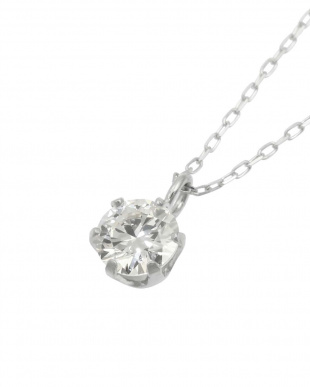 Pt900/Pt850 天然ダイヤモンド 0.3ct VSクラス 6本爪ネックレスあずき40cm 鑑定書付を見る