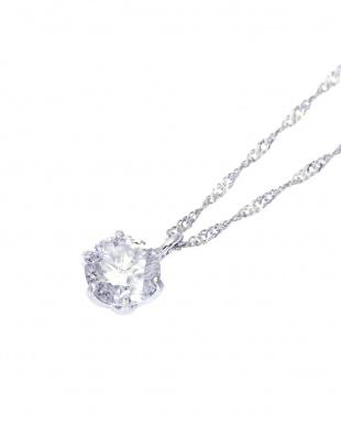 Pt999/Pt850 純プラチナ 天然ダイヤモンド 0.3ct HカラーIクラス 6本爪ネックレス鑑別書付を見る
