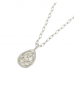 Pt900/Pt850 天然ダイヤモンド 5石 プラチナ ネックレス[雫]を見る