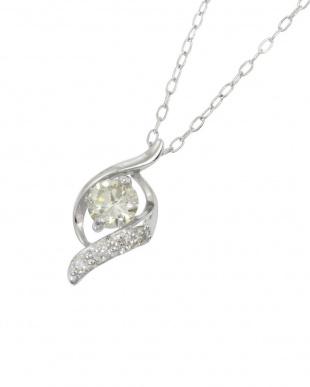Pt900/Pt850 天然ダイヤモンド 0.2ct デザイン プラチナ ネックレスを見る