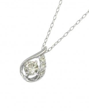 Pt900/Pt850 天然ダイヤモンド 0.2ct ドロップ ネックレスを見る
