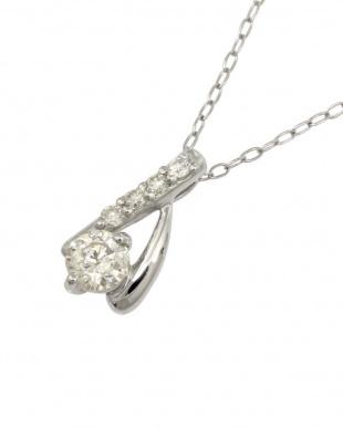 Pt900/Pt850 天然ダイヤモンド計0.2ct プラチナデザイン ネックレスを見る