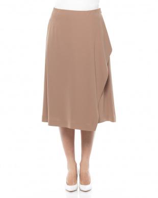 紺 TAツイストサテンスカートを見る