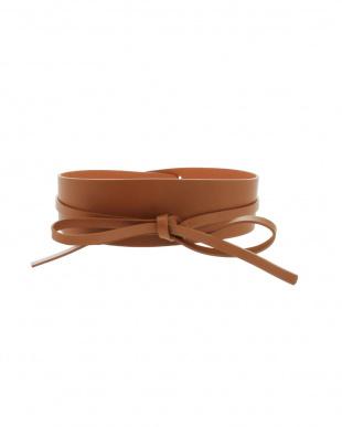 ブラウン MBO/Leather Sash Belt ELENDEEKを見る
