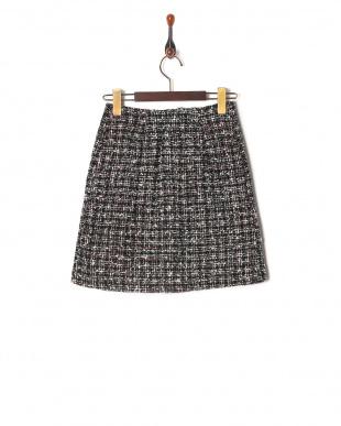 BK スプリングツイードビジュー台形スカートを見る