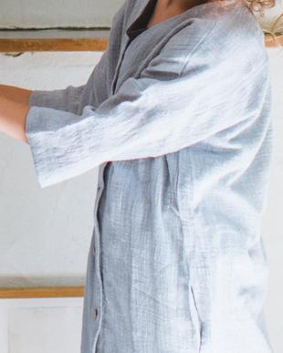 BLUEGRAY シングルガーゼ シャツ ワンピースを見る