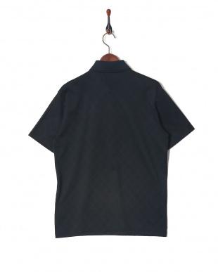 ブラック シャドーアーガイル ホリゾンタルカラー 半袖ポロシャツを見る