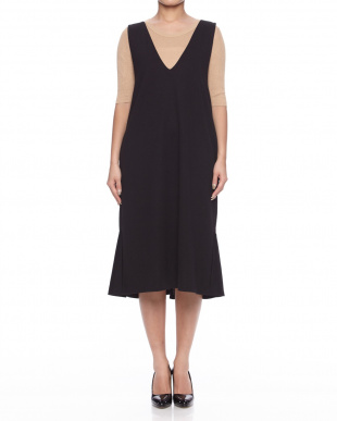 BLACK 裾フリルジャンパースカートを見る