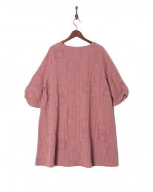 ピンク ボリューム袖チュックを見る