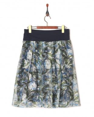ブルー チュールレーススカートを見る