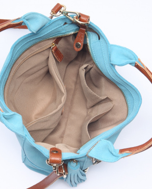 ペールブルー [トプカピ] TOPKAPI [WEB限定]タッセル付きスエード・2wayミニトートバッグを見る