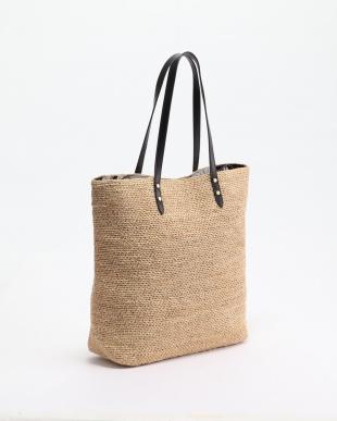 ブラック  [トプカピ] TOPKAPI ラフィアこま編みビッグトートバッグを見る