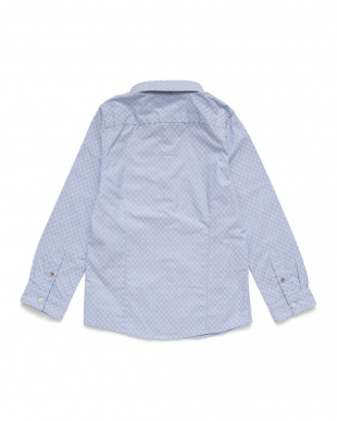 ライトブルー  ジャカード 長袖シャツを見る