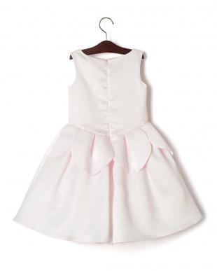 ピンク  CAMPANULA フラワーモチーフ ノースリーブドレスを見る