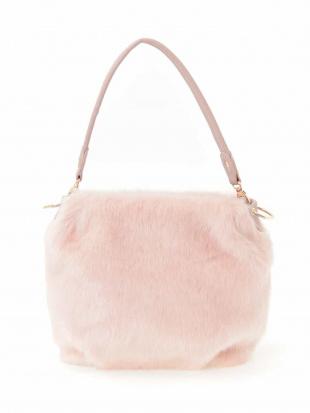 ピンク 【2WAY】フェイクファートートバッグ MK MICHEL KLEIN BAGを見る