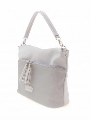 ライトグレー デザインポケットフェイクレザートート MK MICHEL KLEIN BAGを見る