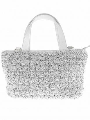 シルバー 【2WAY】コード編みデザイントートバッグ MK MICHEL KLEIN BAGを見る