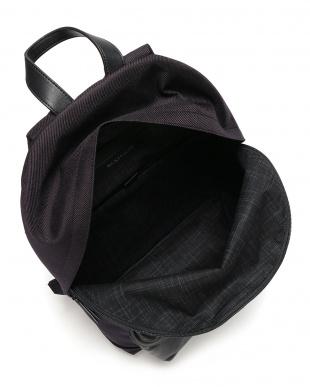 ブラック(11) コーデュラ レザー バックパックを見る