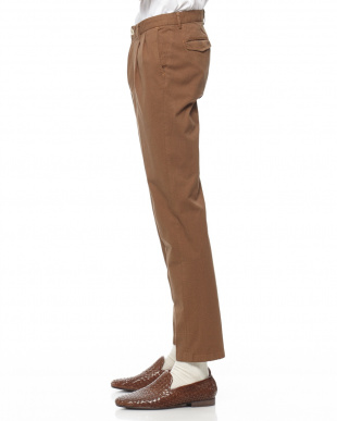 Brown Ice cotton Glen Urquhart check wide tapered fitを見る