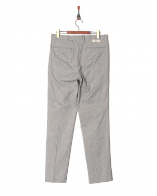 Grey Ice cotton Glen Urquhart check wide tapered fitを見る