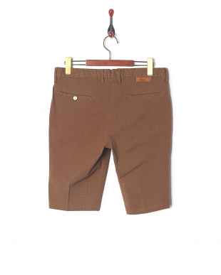 Brown Ice cotton united check shortを見る