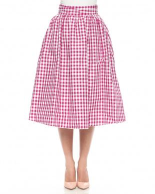 パターン2 リボンギンガムギャザースカートを見る
