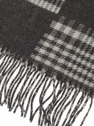 ダークグレー チドリ柄リバーシブルマフラー a.v.v HOMMEを見る