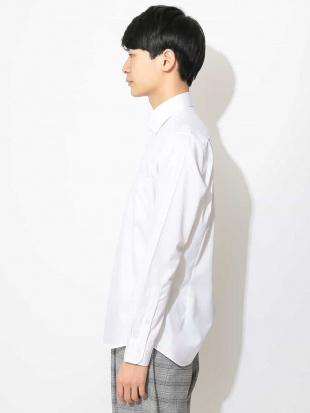 ホワイト コットンツイルワイドカラーシャツ a.v.v HOMMEを見る