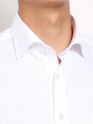 ホワイト BEZ綿麻ワイドカラーシャツシャツ a.v.v HOMMEを見る