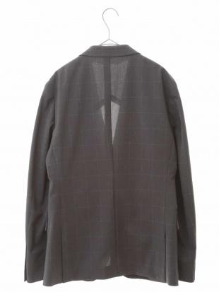 グレー 【洗える】ウィンドペーンチェックテーラードジャケット[WEB限定サイズ] a.v.v HOMMEを見る