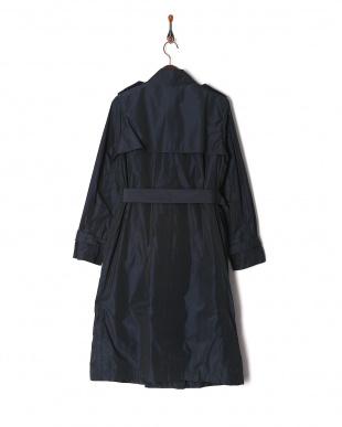 紺 タフタトレンチ コートを見る