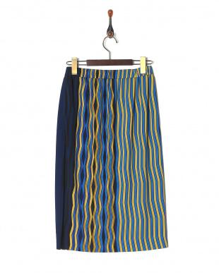 黄色 swingyストライプスカートを見る
