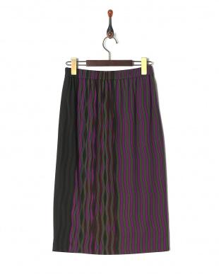 パープル swingyストライプスカートを見る