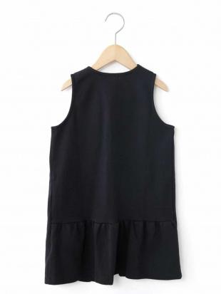 ブラック [140-150]カットソー裾フリルロングジレ a.v.v bout de chouを見る