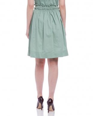 グリーン フリル ギャザースカートを見る