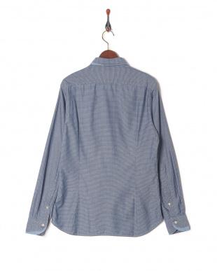 ブルー  TINTORIA MATTEI ダメージ スプレッドカラー 長袖シャツを見る