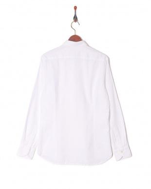 ホワイト  CALIBAN デザイン織柄 スプレッドカラー 長袖シャツを見る