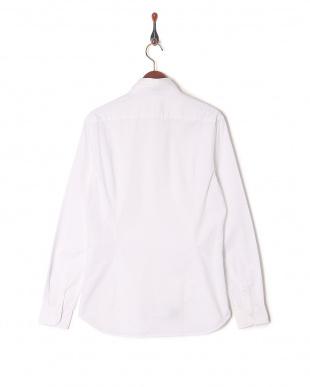 ホワイト  CALIBAN デザイン織柄 カッタウェイ 長袖シャツを見る