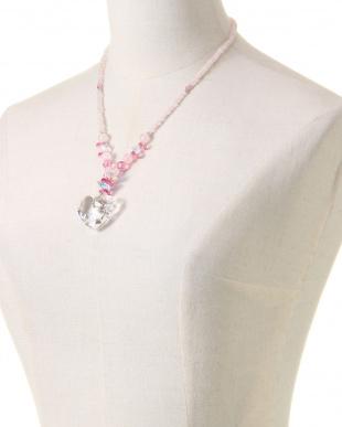 ピンク ネックレスを見る