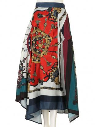 グリーン オリガミスカーフスカート UN3D.を見る